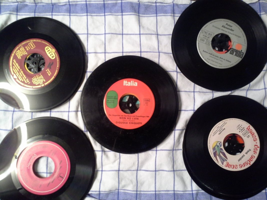 Schallplatten Single Retro Deko Bastelmaterial Basteln