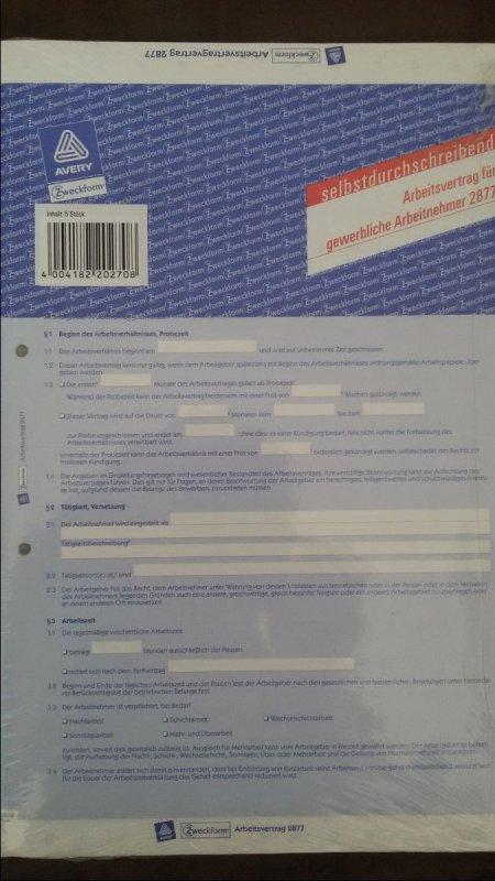 Zweckform 10x Arbeitsvertrag Für Gewerbliche Arbeitnehmer Tauschen
