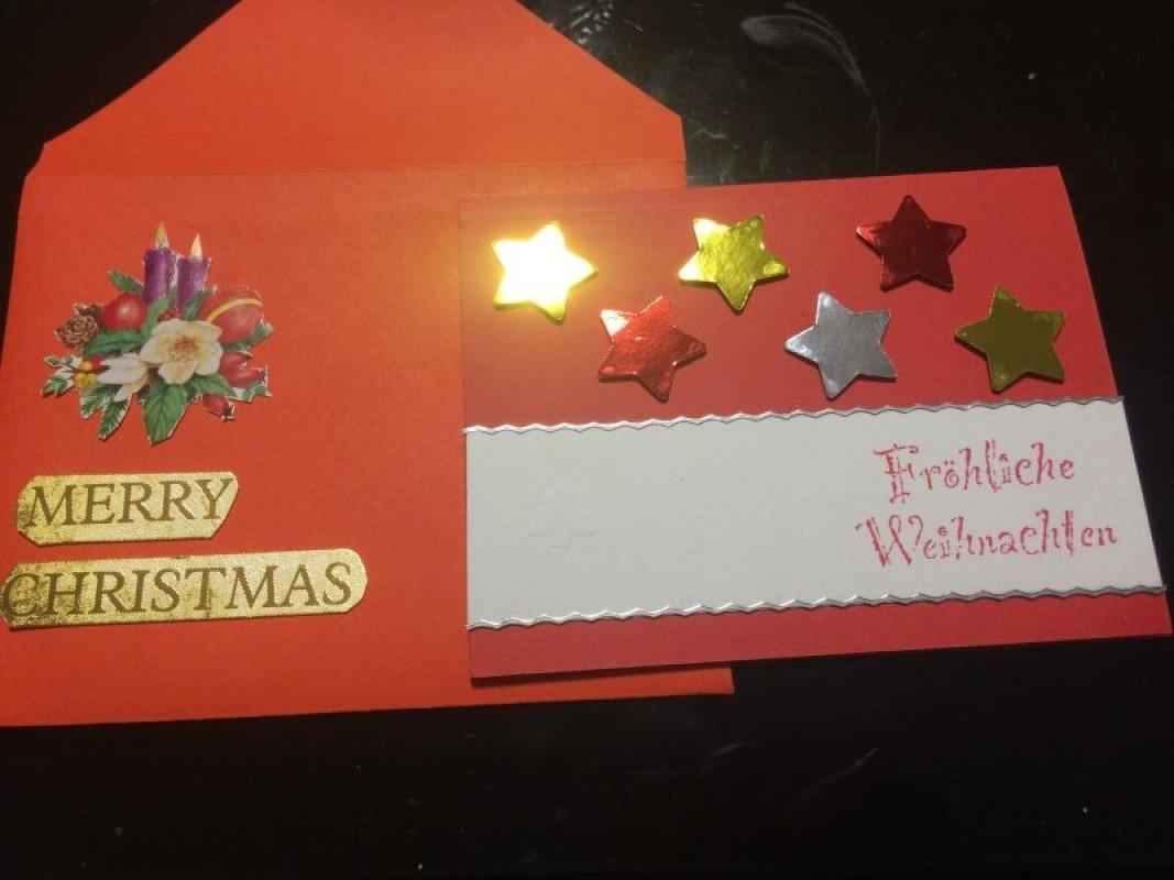 Selbstgebastelte Weihnachtskarte Tauschen Tauschborse Und