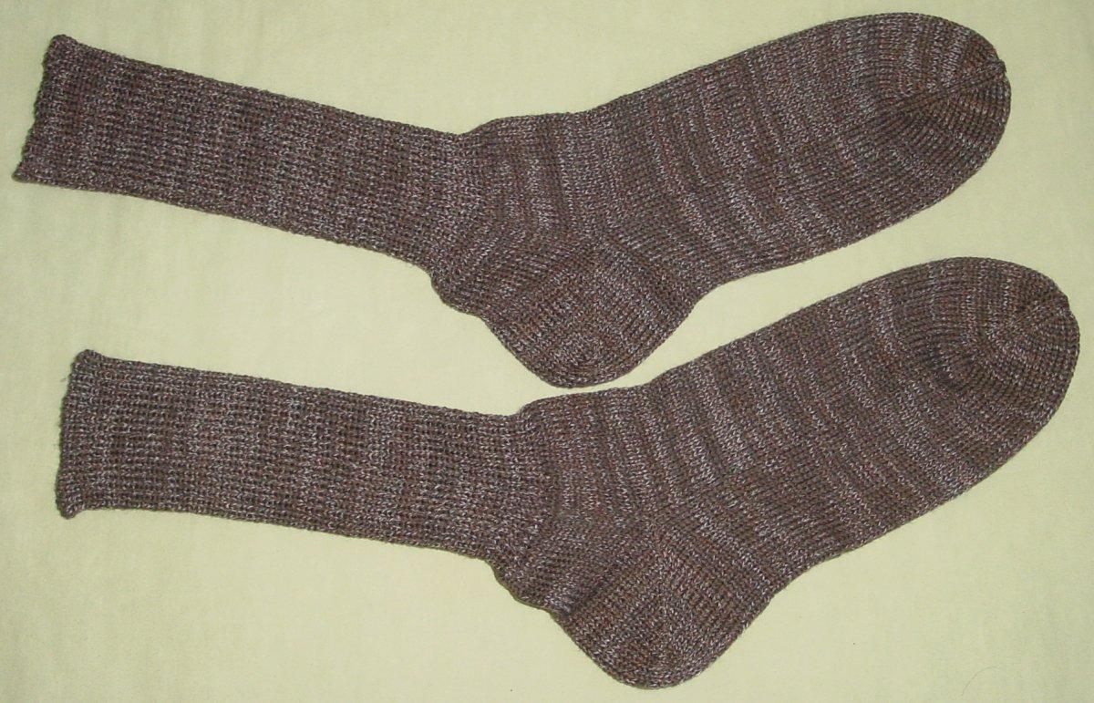 selbstgestrickte socken gr 46 braun meliert neu von louise 39 s homemade socks tauschen. Black Bedroom Furniture Sets. Home Design Ideas