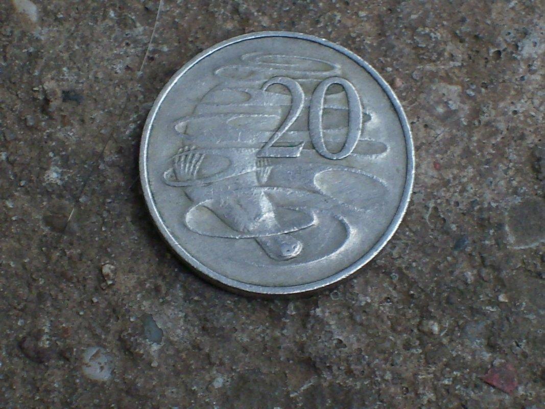 Australia 20 Cent Münze 1966 Mit Schnabeltier Elizabeth Ii