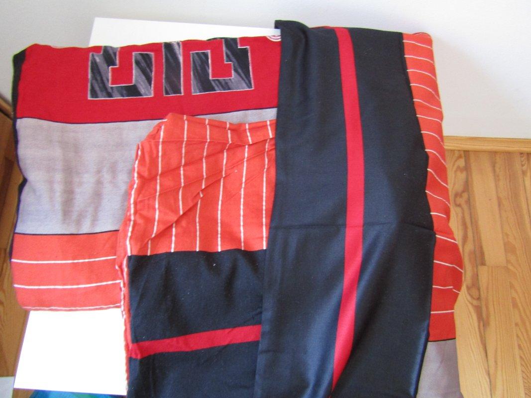 bettw sche set 3 tlg rot schwarz orange paket 3 t. Black Bedroom Furniture Sets. Home Design Ideas