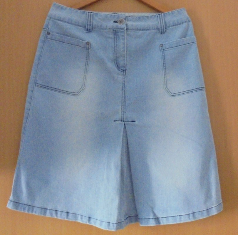 outlet store 7304f 43adc Jeansrock 40 in Hellblau