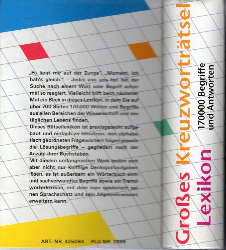 Kreuzworträtsel Lexikon Kostenlos