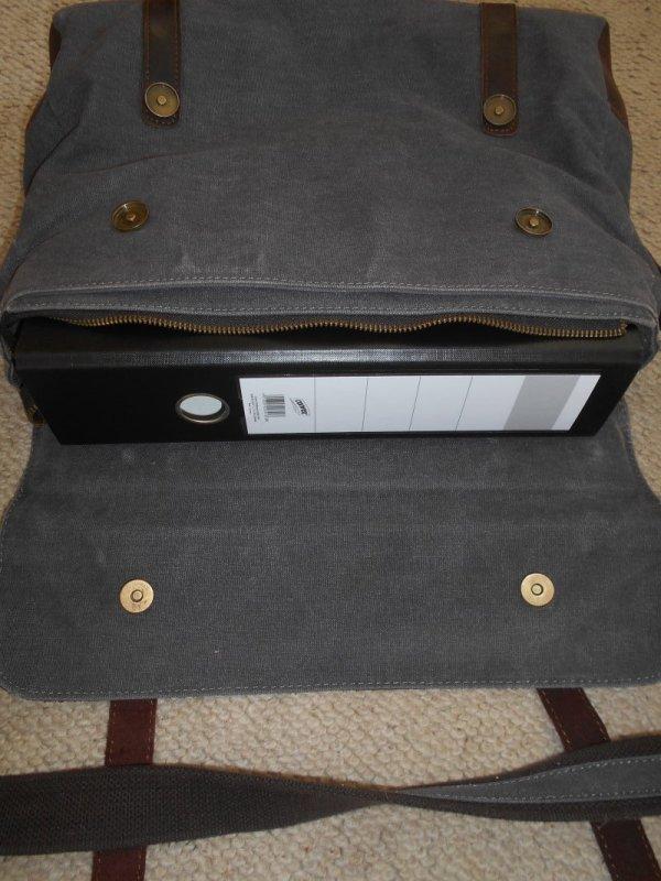 795394261c912 Große Braune Tasche für Schule oder Uni von S-ZONE von S-ZONE ...