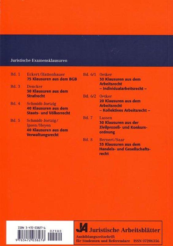 75 Klausuren aus dem BGB: Mit Lösungengsskizzen von Jörn Eckert ...