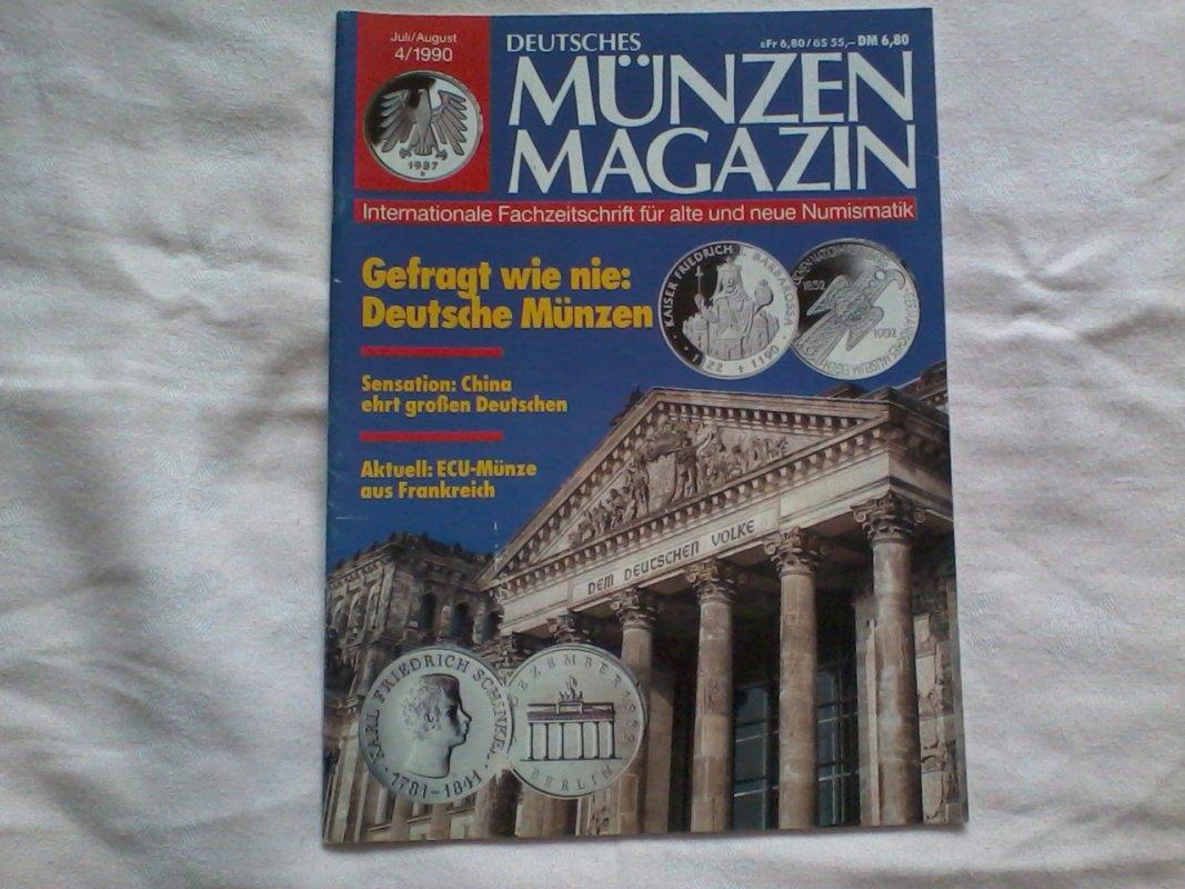 Deutsches Münzen Magazin Juliaugust 1990 Von Unbekannt Tauschen