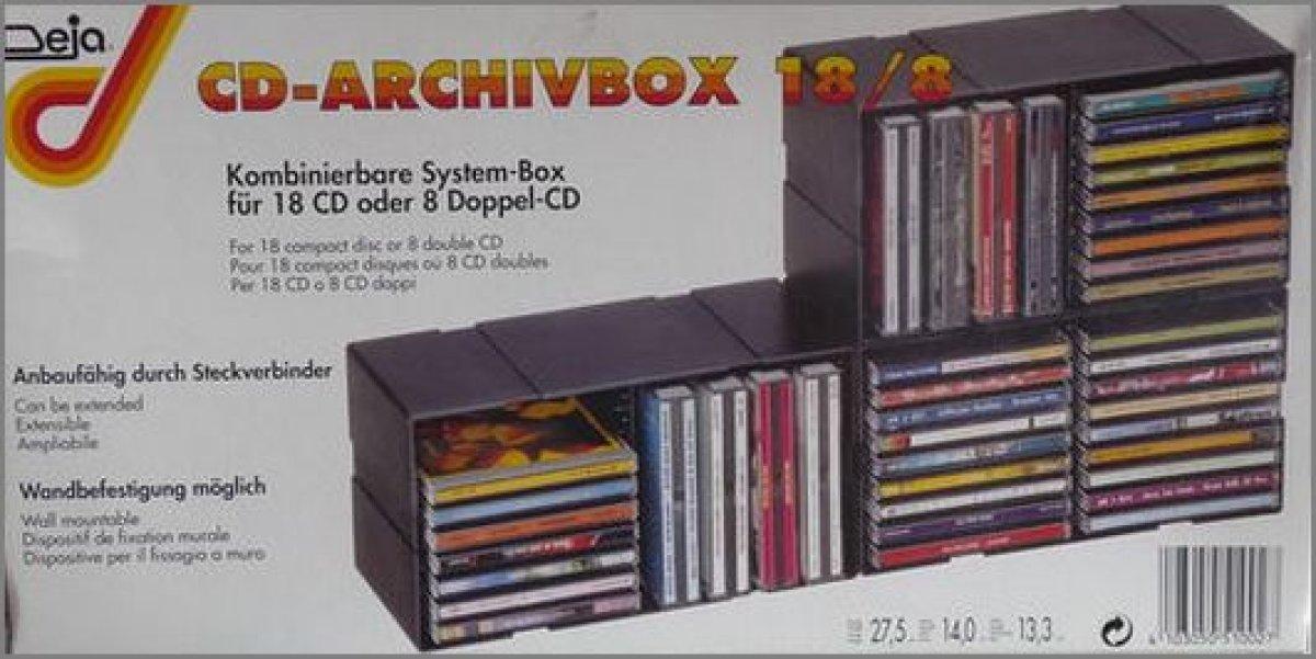 ein st ck deja cd archiv box 18 8 an ausbauf hige. Black Bedroom Furniture Sets. Home Design Ideas
